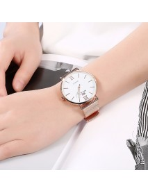 SOXY Fashion Style Women Wrist Watch Ladies Dress Simple Dial Rose Gold Stainless Steel Strap Quartz Watch