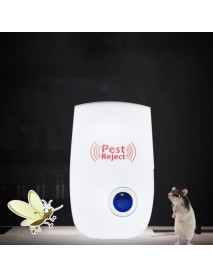 Loskii DC-9006W Ultrasonic Electronic Pest Repeller Mosquito Dispeller Mouse Rat Multi-function Rodent Insect Repellent Mini Insect Killer Dispeller Rode US EU Plug