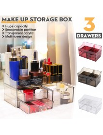 Acrylic Cosmetic Organizer Transparent Storage Box All In One