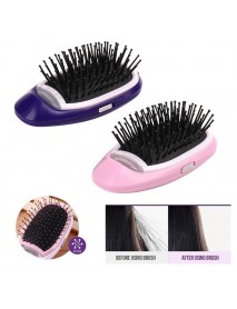 Portable Electric Ionic Hairbrush Straight Styling Tool Massage Comb