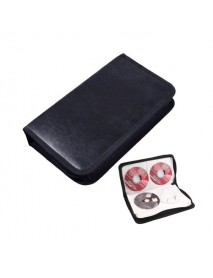 80 Disc DJ Faux Leather Case Storage Holder Organizer for VCD DVD CD