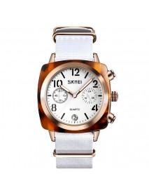 SKMEI 9186 Unique Design Multi-dial Luminous Waterproof Women Wristwatch Quartz Watch