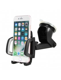 2 in 1 Multifunctional Suction Cup Car Air Vent Holder Bracket Phone Stand for iPhone Samsung Xiaomi