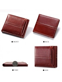 12 Card Slots Men Women Genuine Leather Cowhide Card Holder Wallet