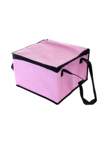 8 Inch Non-woven Fresh keeping Tote Bag with Zipper Cake Picnic Lunch Bag Reusable Grocery Bag