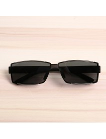 Bang good Mens Outdoor Square Rimless Luxury UV400 Polarized Sunglasses Driving Eyewear