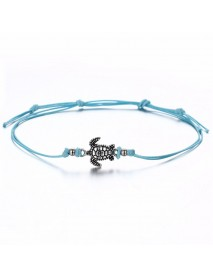Bohemian Turtle Anklet Adjustable Wax Rope Black Blue White Ankle Bracelet Ankle Ring Foot Jewelry