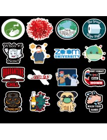 50pcs Epidemic Prevention Window Background Wall Suitcases Computers Healthcare Sticker for Home Floor Decor