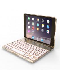 7 Colors Backlit Aluminum Bluetooth Keyboard Kickstand Case For iPad Mini 2/iPad Mini 3