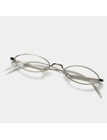 2 Color Flat Oval Thin Frame Arc Frame Reading Glasses