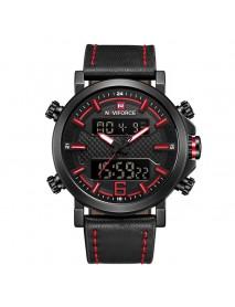 NAVIFORCE 9135 Dual Display Digital Watch Luminous Display Alarm Calendar Outdoor Sport Watch