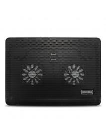 2 Fans LED USB Cooling Pad Adjustable Cooler for Laptop Notebook MacBook