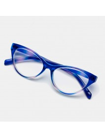 4-color Cat's Eye Gradient Reading Glasses TR90 Portable Durable Light Weight Reading Glasses