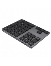 34 key bluetooth 3.0 USB Chargeable Aluminum Alloy Keyboard for PC Laptop Phone Oiffice