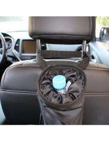 Car Seat Back Trash Holder Litter Hanging Bag Garbage Storage Rubbish Container Adjustable Oxford Cloth Car Waste Bins Cleaning Tools