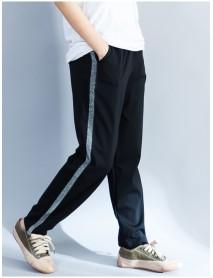 Casual Women Sports Side Stripe Splicing Harem Pants