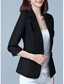 Women Bussiness Slim Blazers Soild Color Casual Long Sleeve Suits