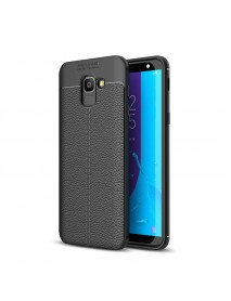 Bakeey Litchi Leather Soft TPU Protective Case for Samsung Galaxy J6 2018 EU Version