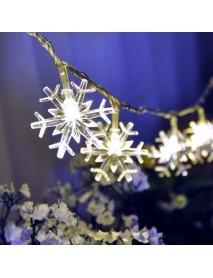 Christmas Snowflake LED Flashlight String Festival Wedding Decoration Waterproof Battery Powered