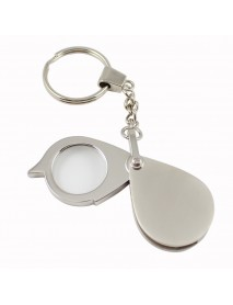 10X Pocket Magnifier Portable Full Metal Rotary 30mm Foldable Keychain