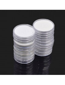 20Pcs Round Coin Capsules Display Boxes Holder Portable Storage Case Container