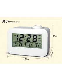 Voice-activated Projection Clock Fashion Electronic Alarm Clock Student Child Old Man Mute Bedside Smart Clock Person Clock