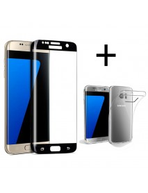 Bakeey 3D Curved Edge Tempered Glass Film With Transparent TPU Case for Samsung Galaxy S7 Edge