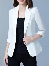 Women Bussiness Slim Blazers Soild Color Casual Long Sleeve Suits