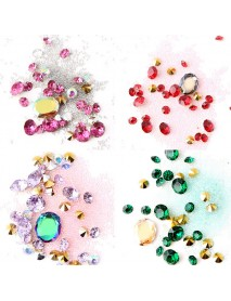 1 Bottle Diamonds Nails Sticker Colorful Beads Crystal Nail Art Decorations