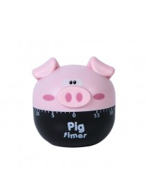 Cartoon Pig Timer Cute Alarm Time Manager Kitchen Baking Tools