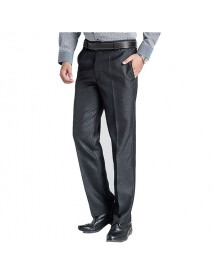 Men's Business Casual Suit Pants Pure Color Thin Professional Straight Dress Suit Pants