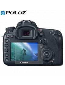 PULUZ Camera 2.5D Curved Edge 9H Hardness Tempered Glass Screen Protector for Canon 7D Mark II