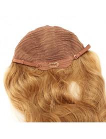 Human Hair Wig Long Straight Full Bang Virgin Remy Mono Top Capless