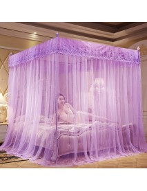 1.8x2.2m Four Corner Mosquito Net Bed Netting Curtain Panel Bedding Canopy for Home Bathroom Decor