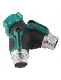 3/4 Inch Garden Hose 2 Way Splitter Valve Water Pipe Faucet Connector US Standard Thread