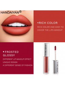 HANDAIYAN 12 Colors Lip Gloss Ice Cream Velvet Matte Nude Decolorize Long Lasting Moisturizing Lipstick Lip Glaze Makeup