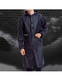 Men's Fashion Breathable Waterproof Hooded Reflective Stripe Windproof Outdoor Raincoat jacket