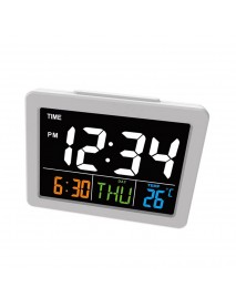 Calendar Multifunction Gift Home Temperature Clock LCD Display Desktop Electronic Digital LED Large Alarm Clock