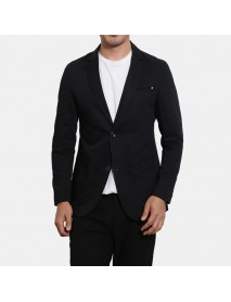 Mens Business Cotton Solid Color Breathable Soft Long Sleeve Casual Blazers