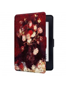 ABS Plastic Follow Painted Smart Sleep Protective Cover Case For Kindle Paperwhite 1/2/3 eBook Reader