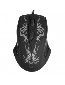 2400DPI Colorful LED Light USB Wired Optical Gaming Mouse