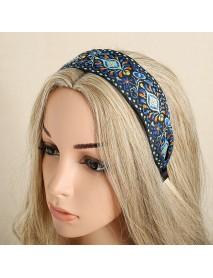 Bohemian Embroidery Woven Headband Ethnic Printed Fabric Headband Beach Holiday Headpieces