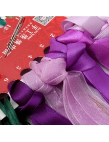 50x58cm 3D Silk Ribbon Purple Flower Cross Stitch Kit Embroidery DIY Handwork Home Decoration