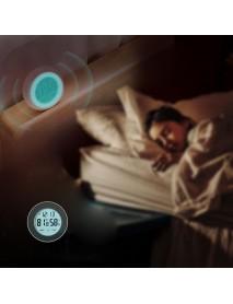Loskii Electric Digital LED Alarm Clock with Touch Screen Control Thermometer Hygrometer Mutifuncitonal Desktop Office Clock