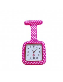 Rubber Square Clip Nurse Watches Multicolor Doctor Pocket Watch