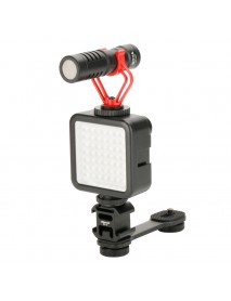Ulanzi PT-3 Metal Extention Bar Flash Light Bracket with 3 Cold Shoe Mounts