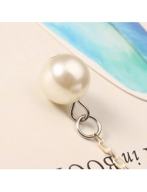 Elegant Hair Band Sweet Flower Pearl Pendant Fake Earrings Headbrand Hair Accessories for Women Girl
