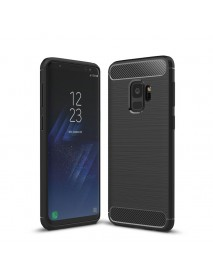 Bakeey Carbon Fiber Texture Anti Fingerprint Soft TPU Case For Samsung Galaxy S9