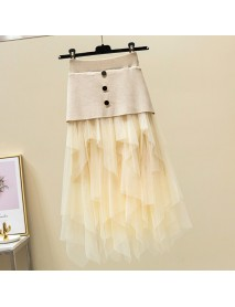 Net Red Vibrating Fairy Network Skirt Female Skirt Stitching Layer Cake Skirt Super Fairy Pleated Skirt