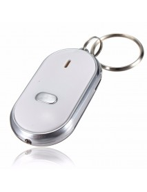 20pcs Whistle Key Finder Keychain Sound LED With Whistle Claps